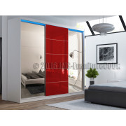 JEFF  3D1L __ Wardrobe with lacobel door + Mirror
