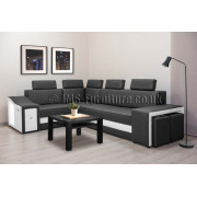 FIESTA - Corner Sofa Bed with LED , ELECTRIC RECLINER