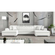 VINCI - faux leather SOFT 17 - Corner Sofa Bed