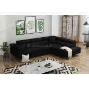 ANTONY - BLACK Sawana 14 - Corner Sofa Bed