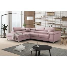 ERIC - Matt Velvet 59 - Corner Sofa Bed