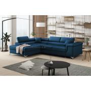 ERIC - Matt Velvet 74 - Corner Sofa Bed