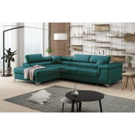 ERIC - Matt Velvet 75 - Corner Sofa Bed