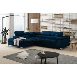 ERIC - Matt Velvet 79 - Corner Sofa Bed