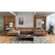 LUTON - fabric  Monolith 09 - Corner Sofa Bed