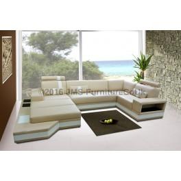 DAYTONA - Corner Sofa Bed with LED