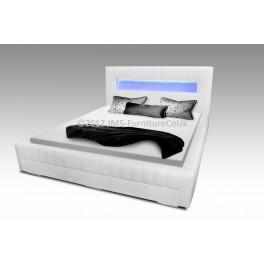 LOUISA -  łóżko sypialniane z LED