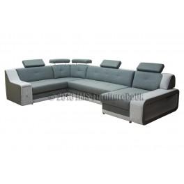 KAYENE 1 - Corner Sofa Bed with LED