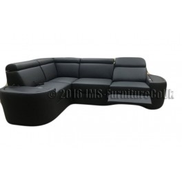 MILAN - Corner Sofa Bed with Electric Recliner