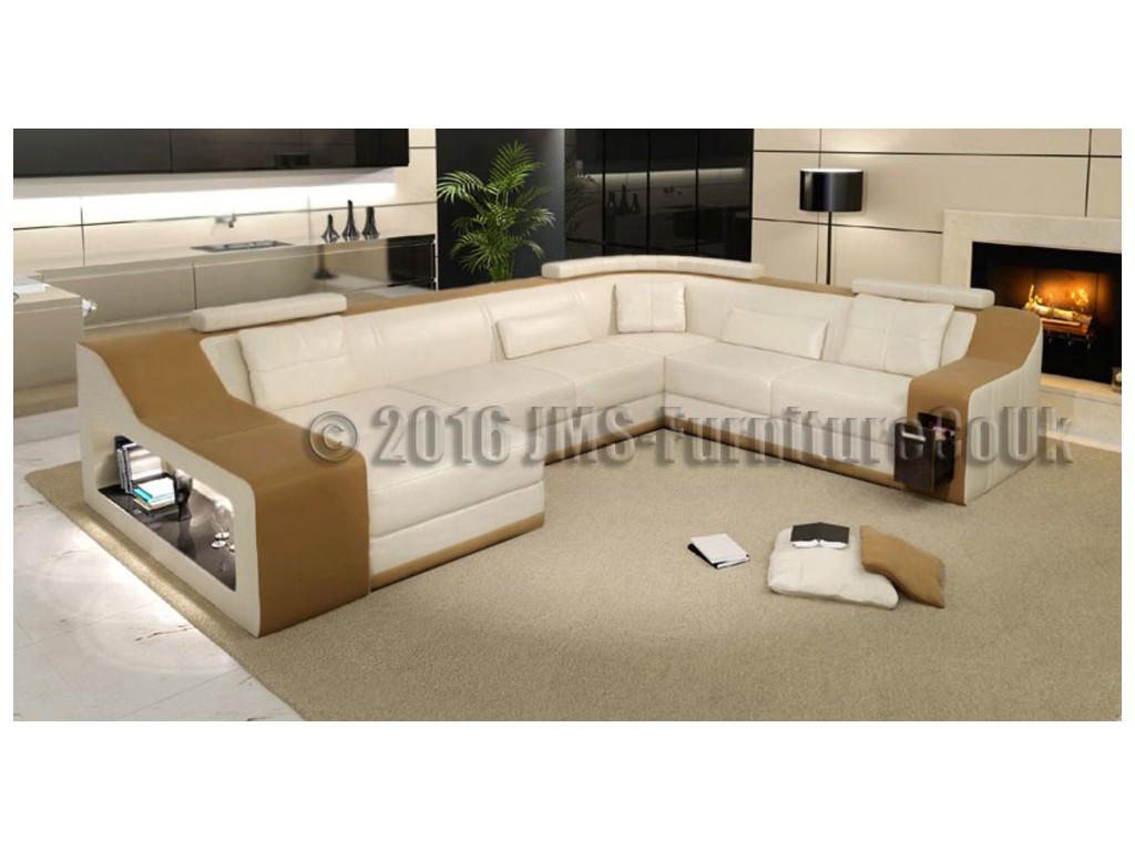 KAYENE 2 - Corner Sofa Bed with LED - JMS Furniture