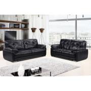 PATI  - 3 osobowa sofa - czarny