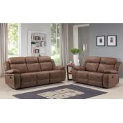 MILTON - 3+2 Seater Sofa - Caramel