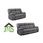ROCK - 3+2 Seater Sofa - Grey - RECLINER