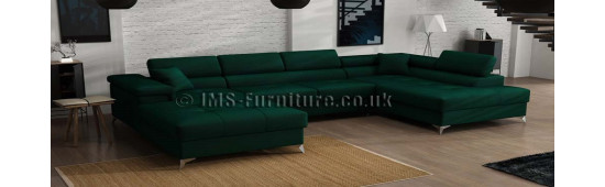 Corner sofa bed U shape