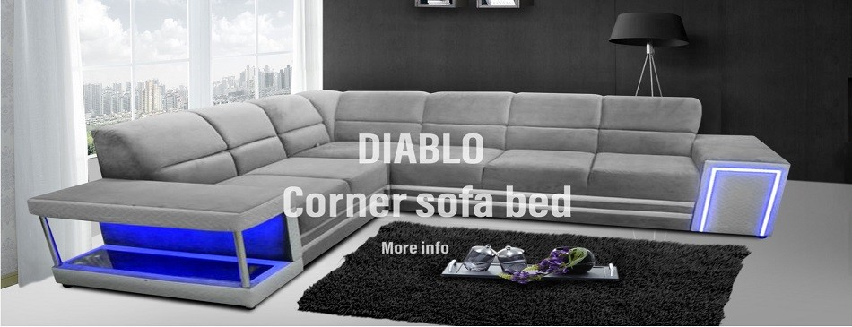 DIABLO - Corner Sofa Bed